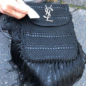 Ysl fringe black bag NWT! 1990 og price